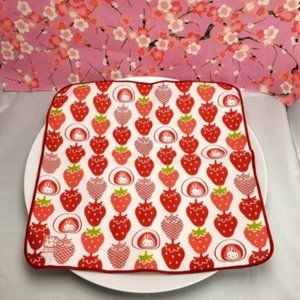 Red Hello Kitty Strawberry square dish towel